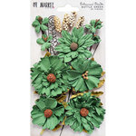 49 and Market - Flower Embellishments - Botanical Blends - Bottle Green