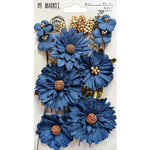 49 and Market - Flower Embellishments - Botanical Blends - Navy