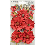 49 and Market - Flower Embellishments - Botanical Blends - Grenadine