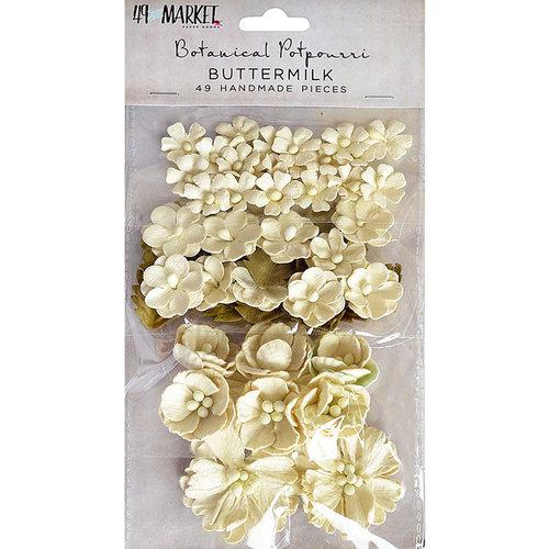 49 and Market - Flower Embellishments - Botanical Potpourri - Buttermilk