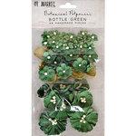 49 and Market - Flower Embellishments - Botanical Potpourri - Bottle Green