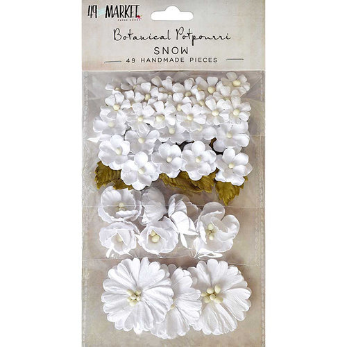 49 and Market - Flower Embellishments - Botanical Potpourri - Snow