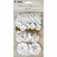 49 and Market - Flower Embellishments - Botanical Potpourri - Snow