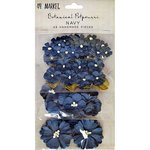 49 and Market - Flower Embellishments - Botanical Potpourri - Navy
