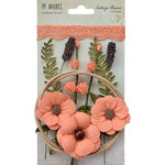 49 and Market - Handmade Flowers - Cottage Blooms - Cantaloupe