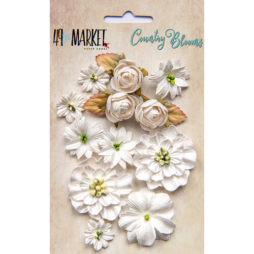 49 and Market - Flower Embellishments - Country Blooms - Cloud