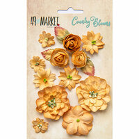 49 and Market - Flower Embellishments - Country Blooms - Ginger