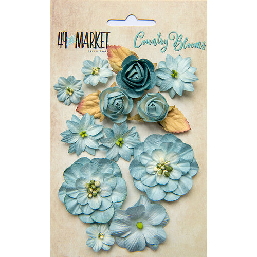 49 and Market - Flower Embellishments - Country Blooms - Sky