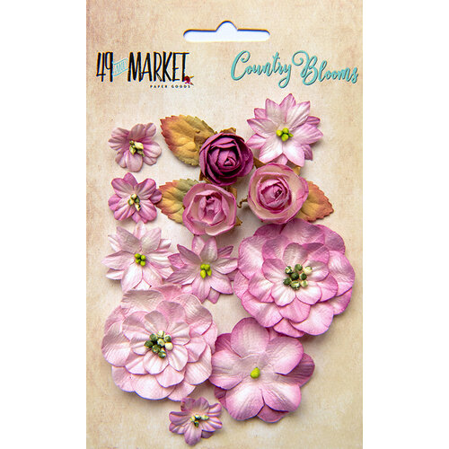 49 and Market - Flower Embellishments - Country Blooms - Punch