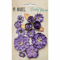 49 and Market - Flower Embellishments - Country Blooms - Violet