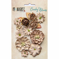 49 and Market - Flower Embellishments - Country Blooms - Mushroom