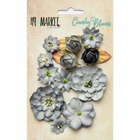 49 and Market - Flower Embellishments - Country Blooms - Storm