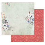 49 and Market - Cottage Life Collection - 12 x 12 Double Sided Paper - Watering the Garden