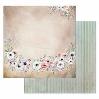 49 and Market - Cottage Life Collection - 12 x 12 Double Sided Paper - Garland