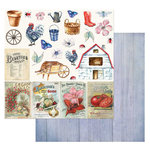 49 and Market - Cottage Life Collection - 12 x 12 Double Sided Paper - Cottage