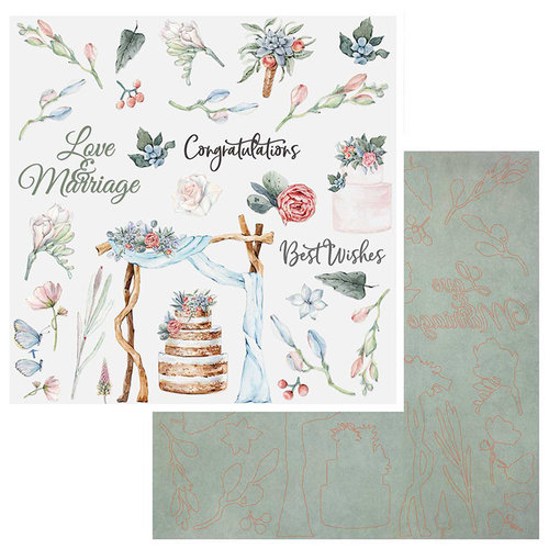 49 and Market - Wedded Bliss Collection - 12 x 12 Laser Cut Shapes