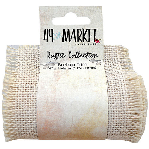 49 and Market - Burlap Ribbon - Cream