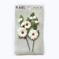 49 and Market - Flower Embellishments - Daisy Stems - White
