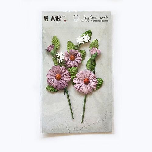 49 and Market - Flower Embellishments - Daisy Stems - Lavender