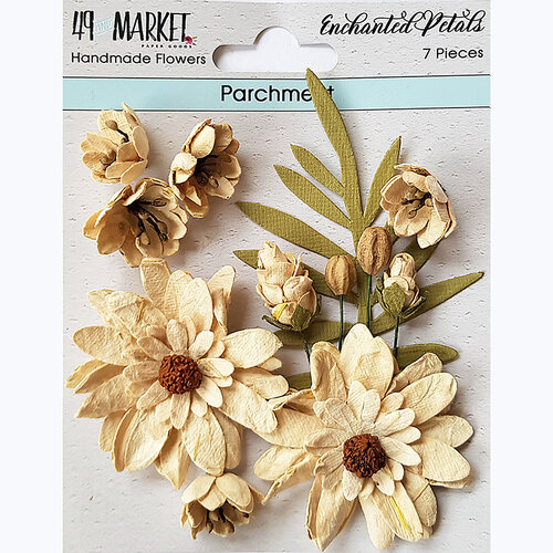 49 and Market - Flower Embellishments - Enchanted Petals - Parchment