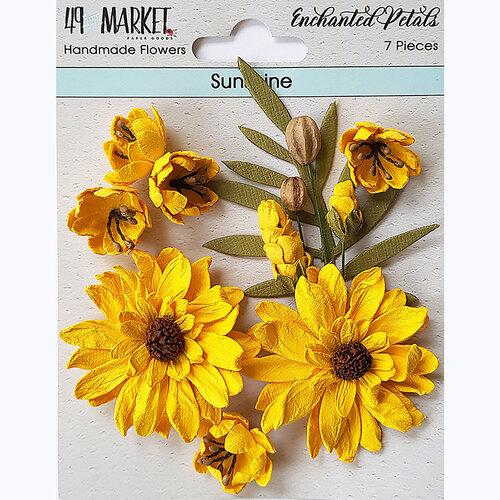 49 and Market - Flower Embellishments - Enchanted Petals - Sunshine