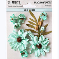 49 and Market - Flower Embellishments - Enchanted Petals - Sea Glass