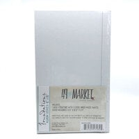 49 and Market - Foundations - 6 x 10 Chipboard Album Kit - White