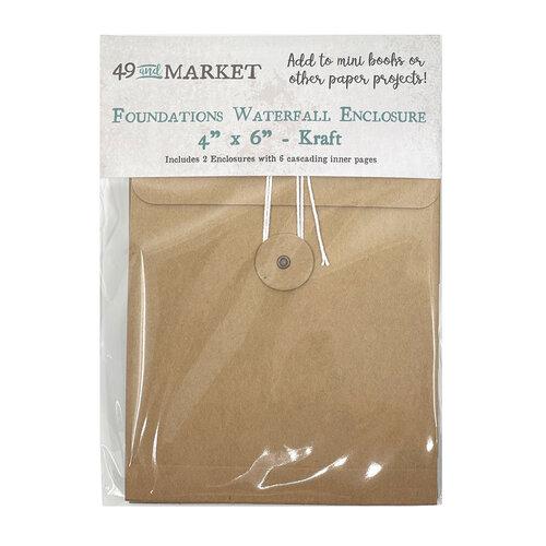 49 and Market - Foundations Waterfall Enclosure - 4 x 6 - Kraft