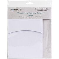 49 and Market - Foundations - Album Pockets - Portrait - White - 4 Pack