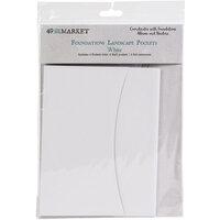 49 and Market - Foundations - Album Pockets - Landscape - White - 4 Pack