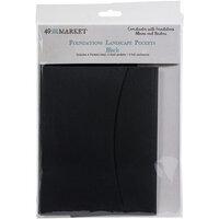 49 and Market - Foundations - Album Pockets - Landscape - Black - 4 Pack