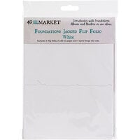 49 and Market - Foundations - Jagged Flip Folio - White