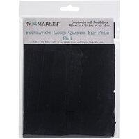 49 and Market - Foundations - Jagged Quarter Flip Folio - Black