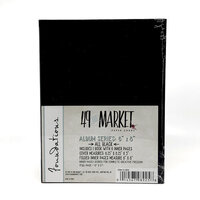 49 and Market - Foundations - 6 x 8 Chipboard Album - Black