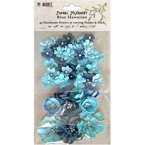 49 and Market - Flower Embellishments - Floral Mixology - Blue Hawaiian