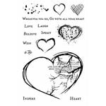 49 and Market - Clear Acrylic Stamps - With All Your Heart