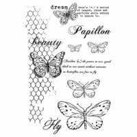 49 and Market - Clear Photopolymer Stamps - Gabi's Butterflies Are Free
