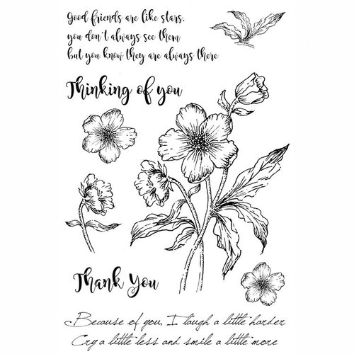 49 and Market - Clear Acrylic Stamps - Gabi's Hibiscus