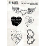49 and Market - Clear Acrylic Stamps - Gabi's Hearts of Desire