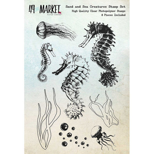 49 and Market - Clear Photopolymer Stamps - Sand and Sea Creatures