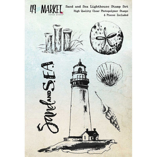 49 and Market - Clear Photopolymer Stamps - Sand and Sea Lighthouse