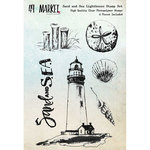49 and Market - Clear Acrylic Stamps - Sand and Sea Lighthouse