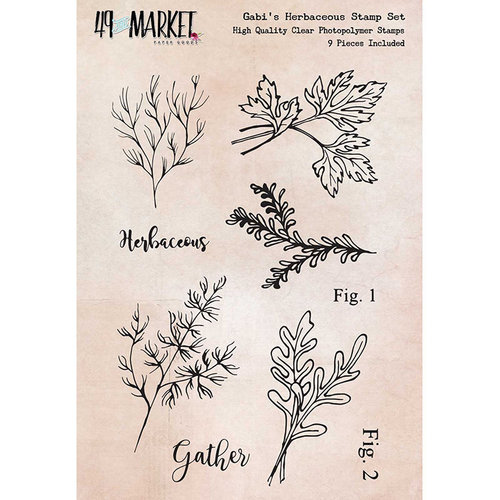 49 and Market - Clear Acrylic Stamps - Gabi's Herbaceous