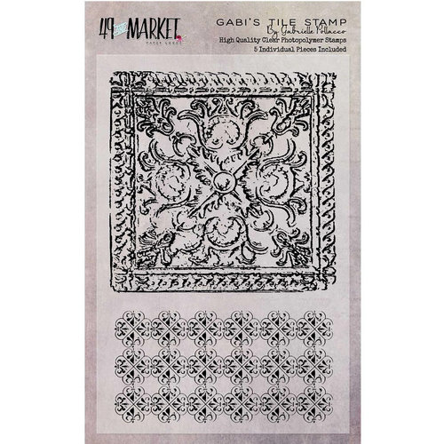 49 and Market - Clear Acrylic Stamps - Gabi's Tile