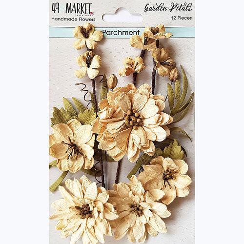 49 and Market - Flower Embellishments - Garden Petals - Parchment