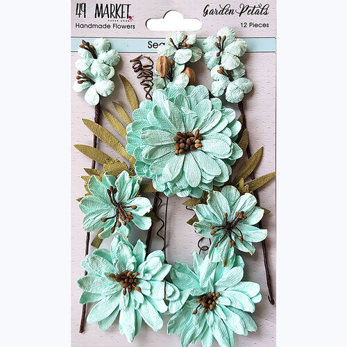 49 and Market - Flower Embellishments - Garden Petals - Sea Glass