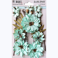 49 and Market - Flower Embellishments - Garden Petals - Sea Glass