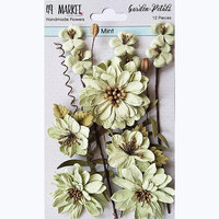 49 and Market - Flower Embellishments - Garden Petals - Mint
