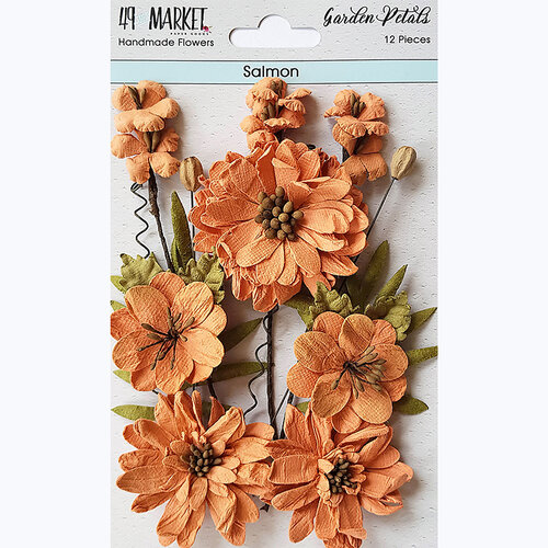 49 and Market - Flower Embellishments - Garden Petals - Salmon