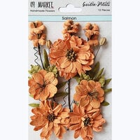 49 and Market - Flower Embellishments - Garden Petals - Salmon